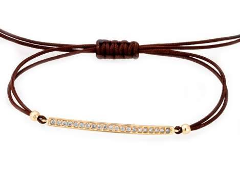 Bracelet SUITE white in golden silver