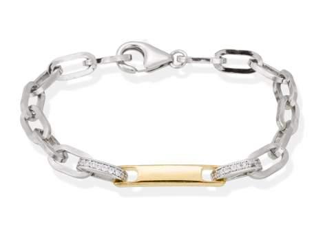 Bracelet RITZ white in silver