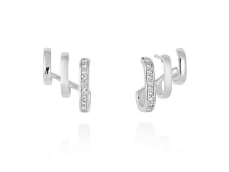 Earrings ENCORE white in silver
