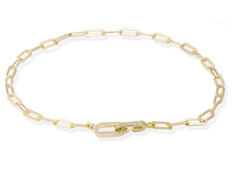 Necklace HILTON white in golden silver