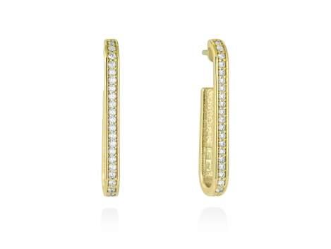 Earrings WYNN white in golden silver