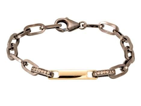 Bracelet RITZ cognac in golden silver