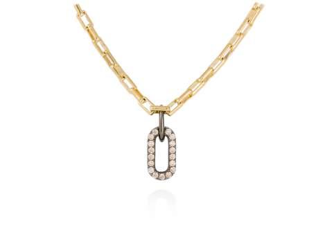 Necklace SUITE cognac in golden silver