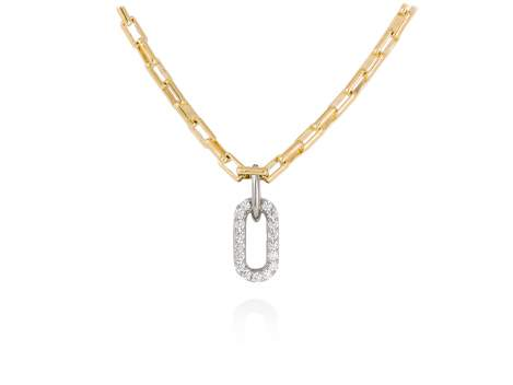 Necklace SUITE white in golden silver