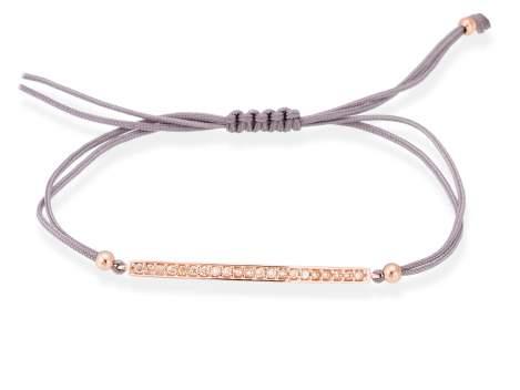 Bracelet SUITE cognac in rose silver