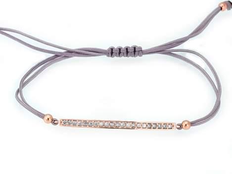 Bracelet SUITE white in rose silver