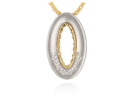 Pendant MIRAGE white in silver