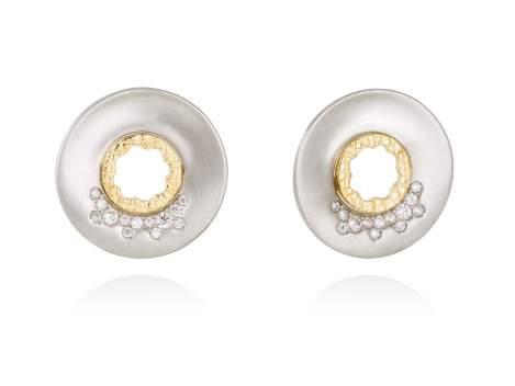 Earrings MIRAGE white in silver