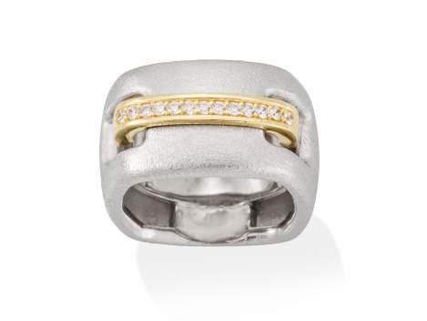 Ring RITZ white in silver