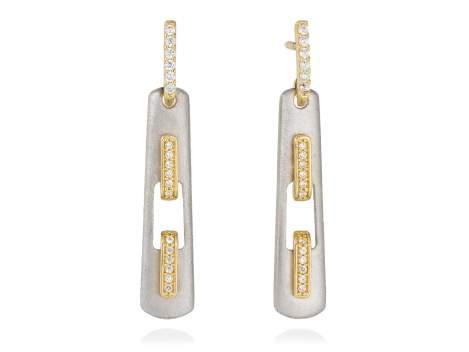 Earrings RITZ white in silver