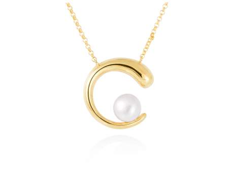 Necklace SIAM pearl in golden silver