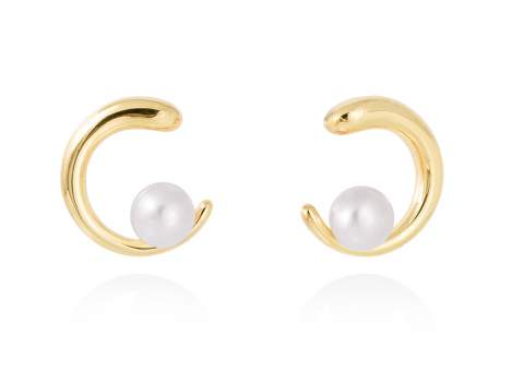 Ohrringe SIAM perle in silber vergoldet