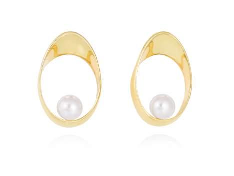 Ohrringe YAMA perle in silber vergoldet