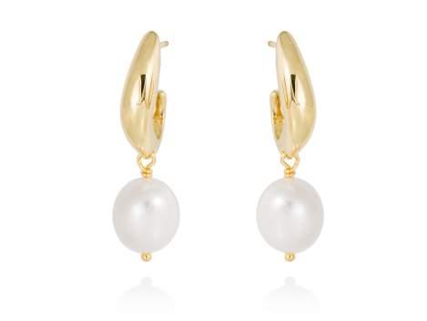 Pendientes AOMORI perla en plata dorada