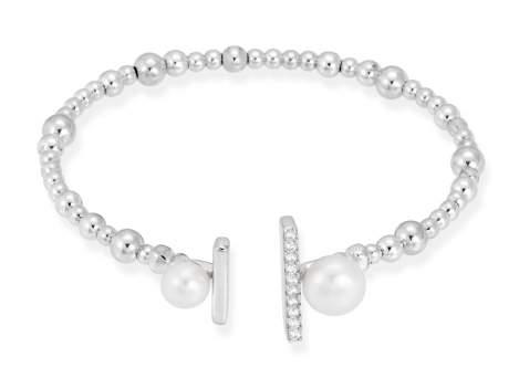 Bracelet SAPPORO pearl in silver