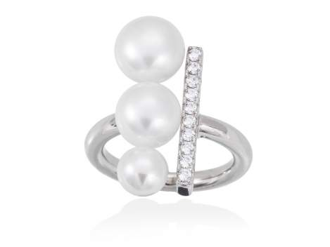 Ring SAPPORO pearl in silver
