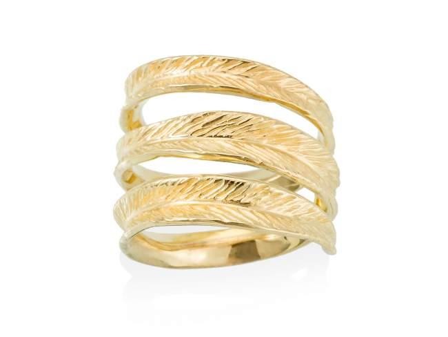 Ring NARA  in golden silver de Marina Garcia Joyas en plata Ring in 18kt yellow gold plated 925 sterling silver.
