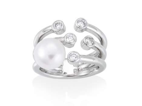 Ring HANOI pearl in silver