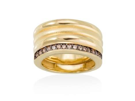 Ring FITJI white in golden silver