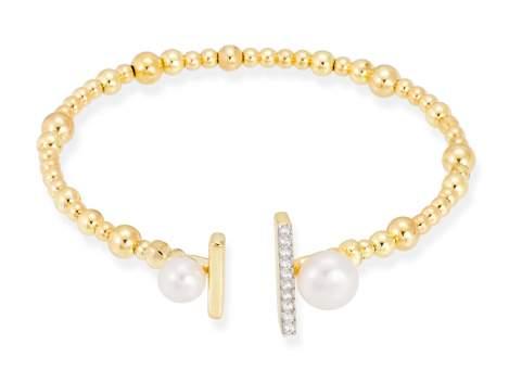 Bracelet SAPPORO pearl in golden silver
