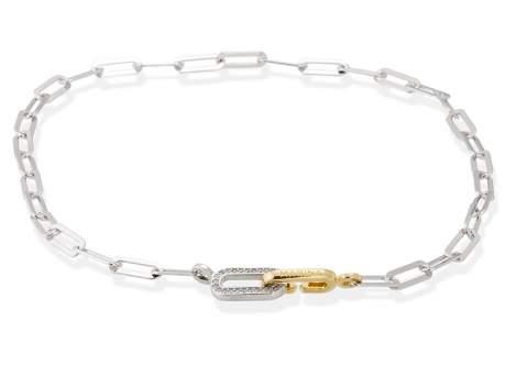 Necklace HILTON white in silver