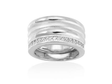 Ring FITJI white in silver