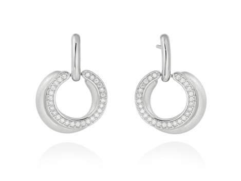 Earrings FITJI white in silver