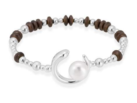 Bracelet SIAM pearl in silver