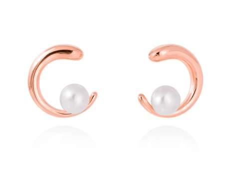 Earrings SIAM pearl in rose silver