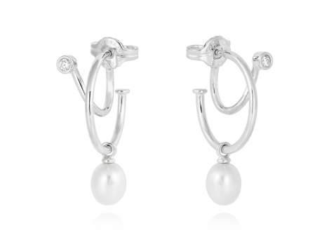 Earrings WHAM pearl in silver