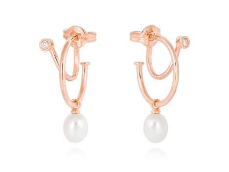 Earrings WHAM  in rose silver