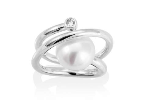 Ring WHAM pearl in silver