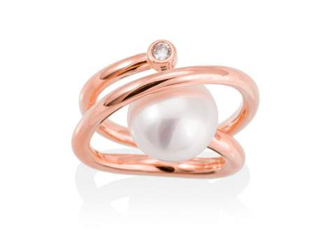 Ring WHAM pearl in rose silver