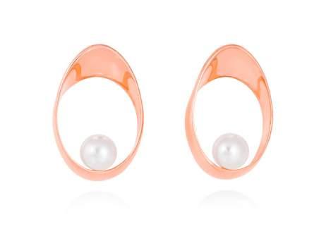 Earrings YAMA pearl in rose silver