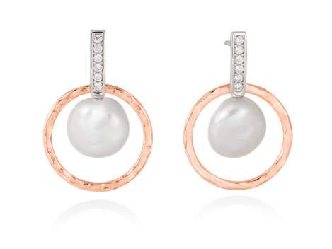 Earrings OSAKA  in rose silver