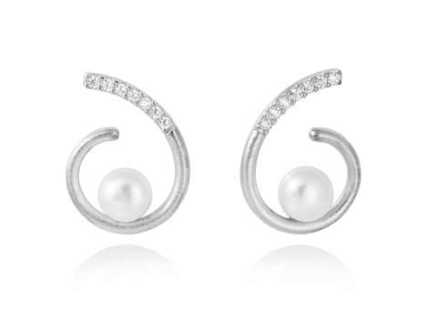 Earrings AKITA pearl in silver