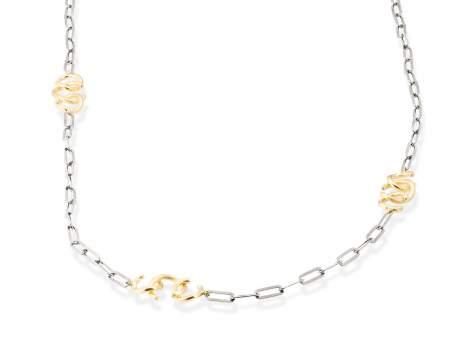 Necklace FITJI silver in black silver