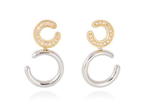 Earrings RAWA white in silver