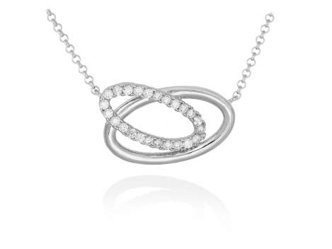 Necklace AUSTRAL white in silver