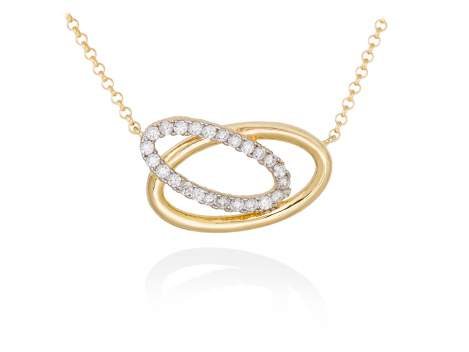 Necklace AUSTRAL white in golden silver