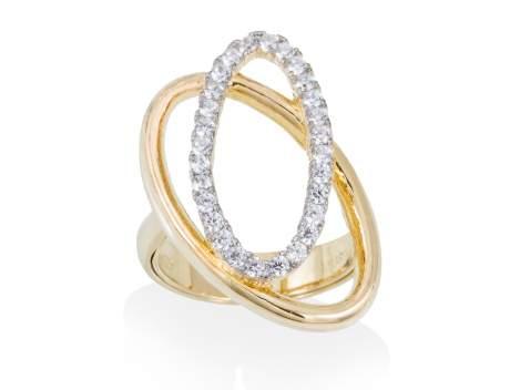 Ring AUSTRAL white in golden silver