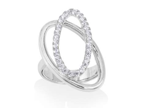 Ring AUSTRAL white in silver