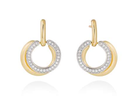 Earrings FITJI white in golden silver