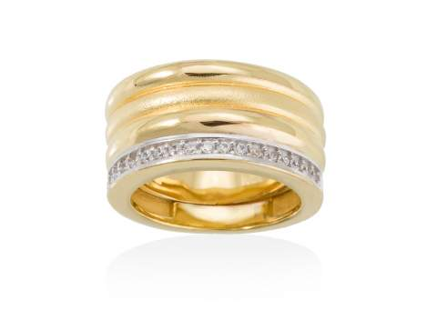 Ring FITJI white in golden silver