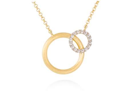 Halskette PAPUA weiß in silber vergoldet