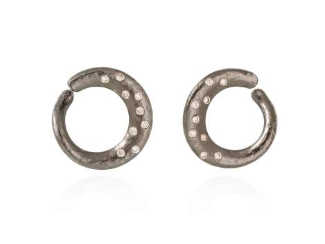 Earrings LAOS  in black silver