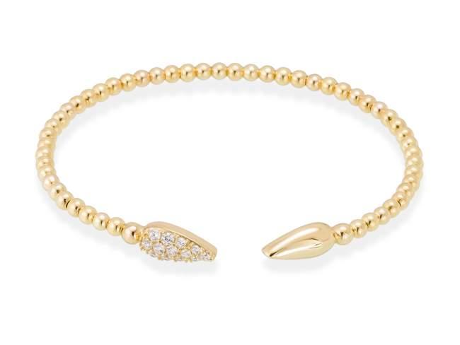Bracelet TRUCO white in golden silver de Marina Garcia Joyas en plata Bracelet in 18kt yellow gold plated 925 sterling silver with white cubic zirconia. (wrist size: 18.)