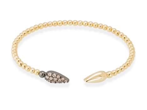 Bracelet TRUCO cognac in golden silver