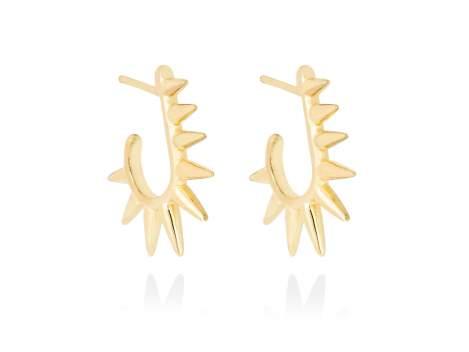 Earrings PUNK  in golden silver