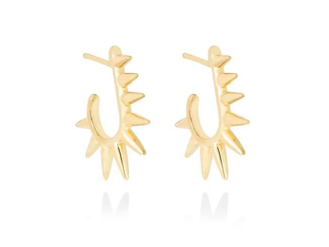 Earrings PUNK  in golden silver de Marina Garcia Joyas en plata Earrings in 18kt yellow gold plated 925 sterling silver. (size: 2,5 cm.)